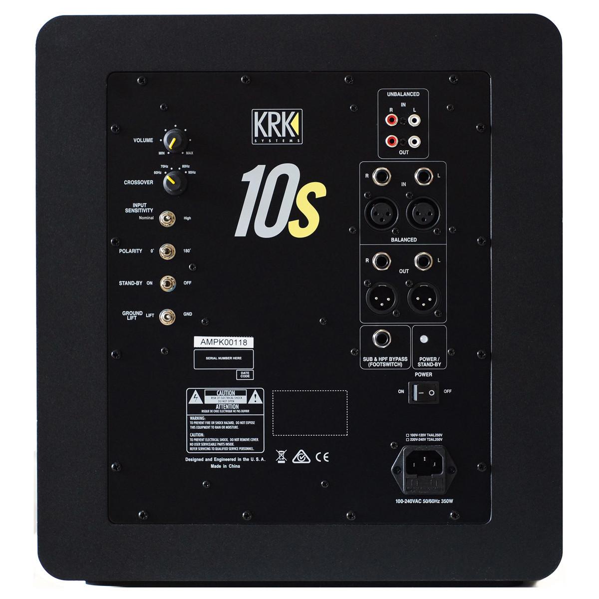 KRK 10S2 SUBWOOFER ATTIVO DA STUDIO 10 160 WATT 1
