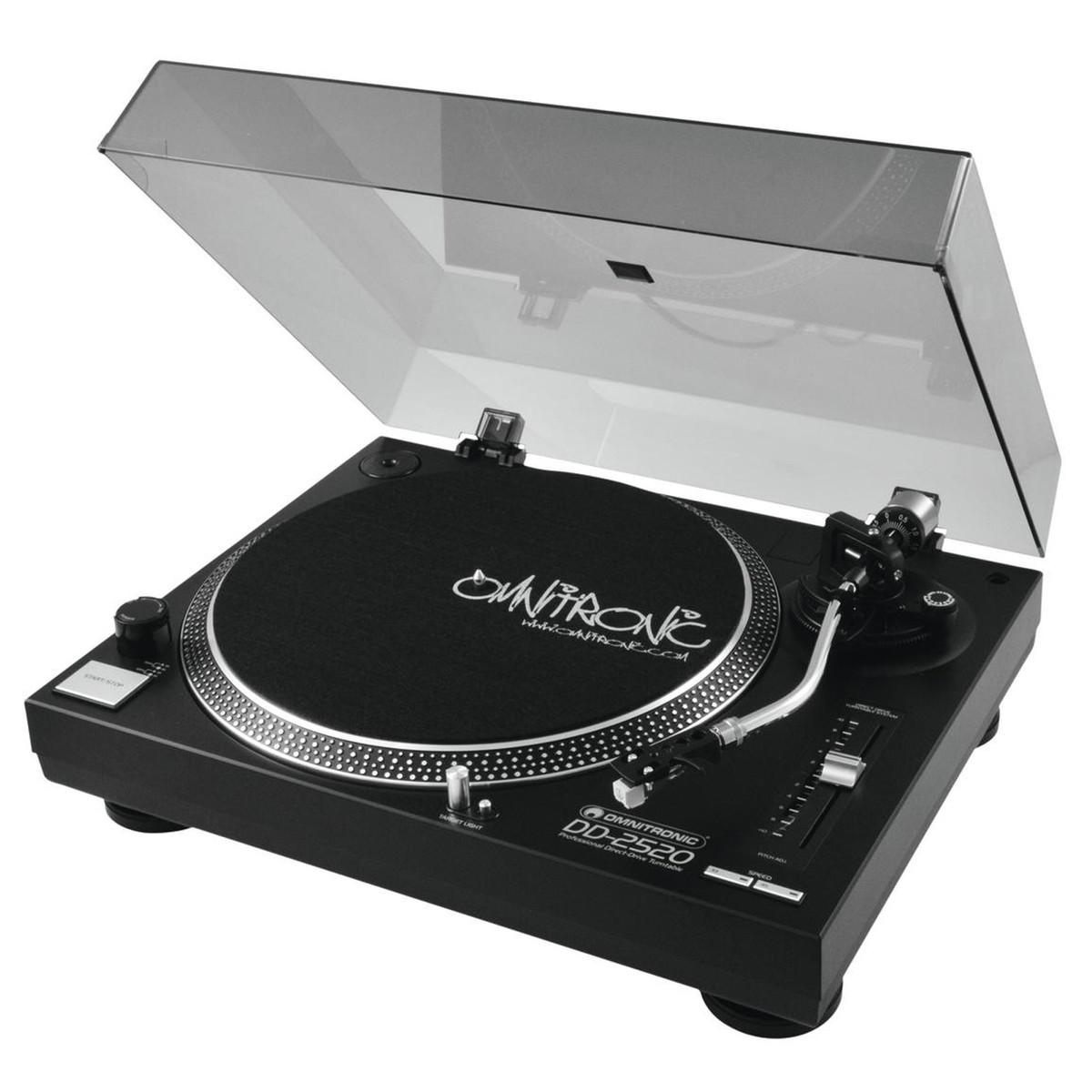 OMNITRONIC DD-2520 USB BLACK GIRADISCHI PER DJ TRAZIONE DIRETTA NERO 1