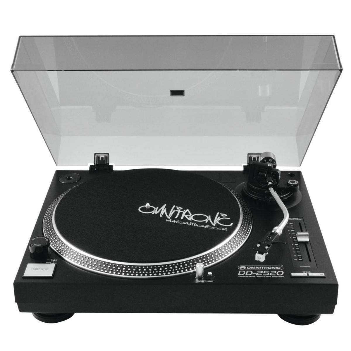 OMNITRONIC DD-2520 USB BLACK GIRADISCHI PER DJ TRAZIONE DIRETTA NERO 2