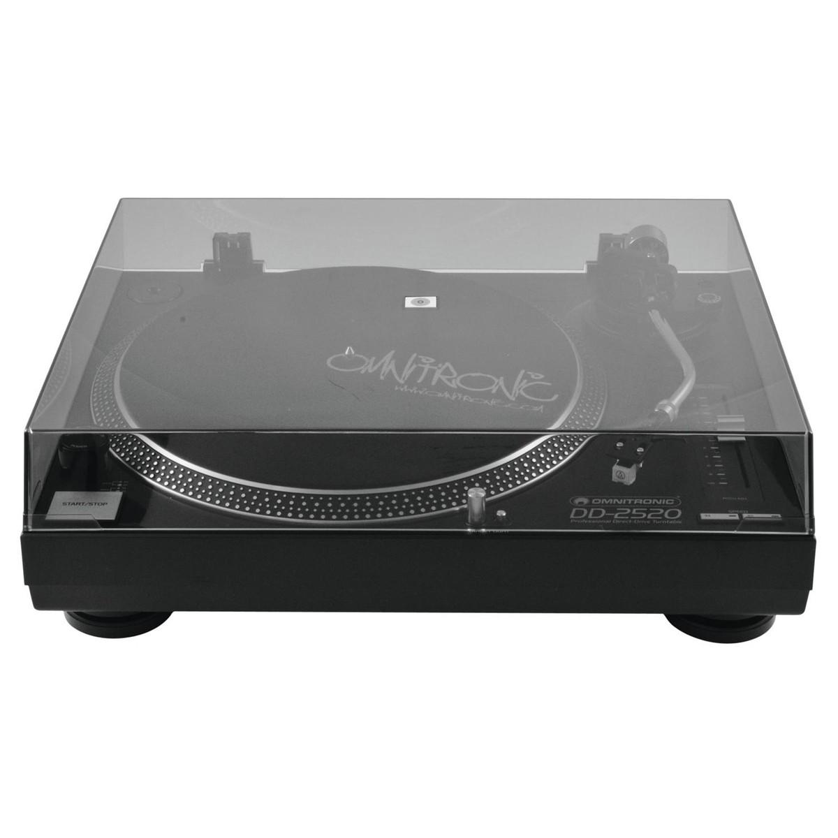 OMNITRONIC DD-2520 USB BLACK GIRADISCHI PER DJ TRAZIONE DIRETTA NERO 4