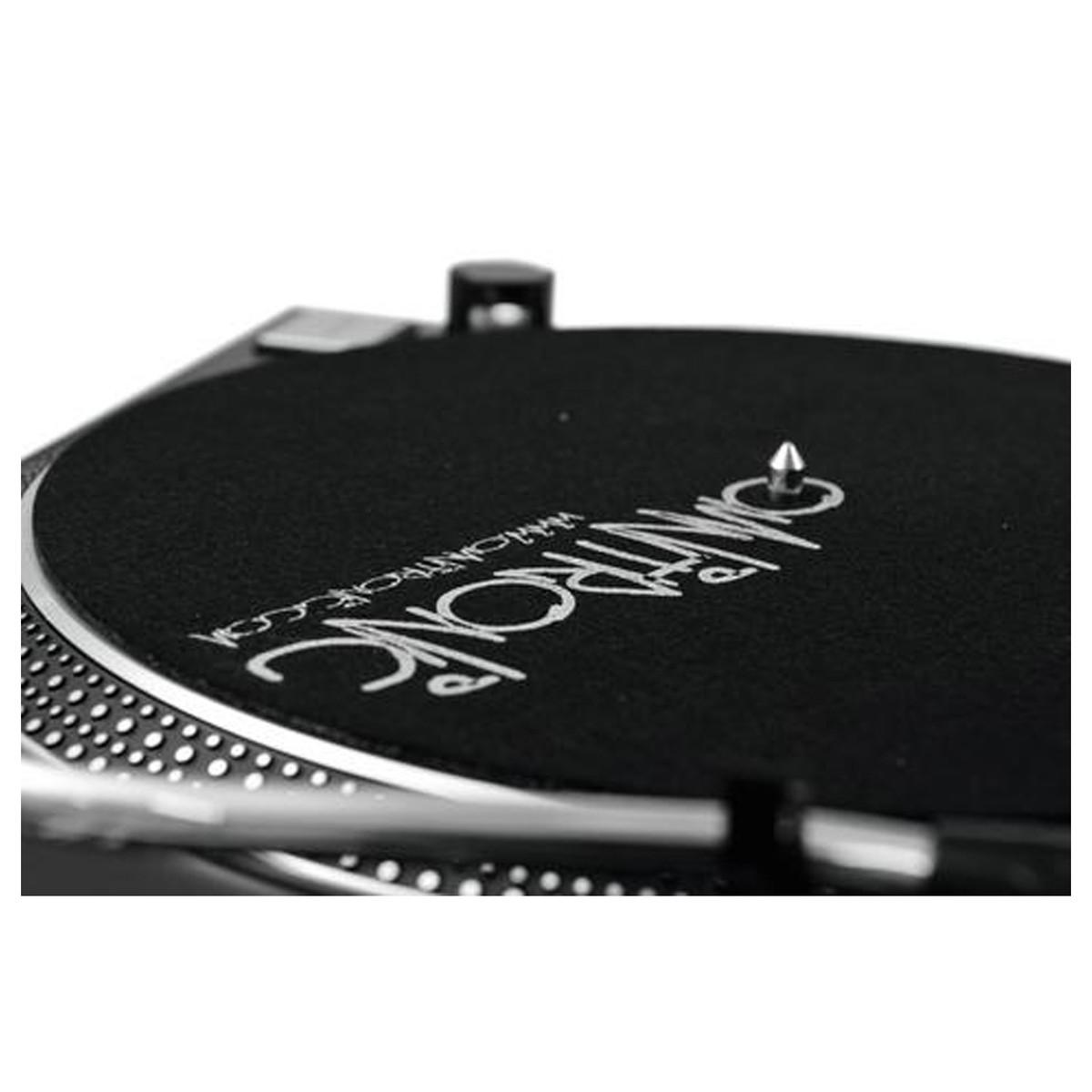 OMNITRONIC DD-2520 USB BLACK GIRADISCHI PER DJ TRAZIONE DIRETTA NERO 6
