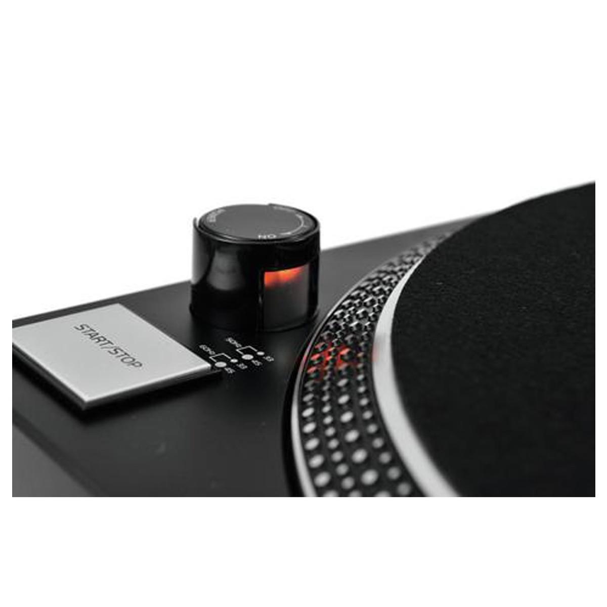 OMNITRONIC DD-2520 USB BLACK GIRADISCHI PER DJ TRAZIONE DIRETTA NERO 7
