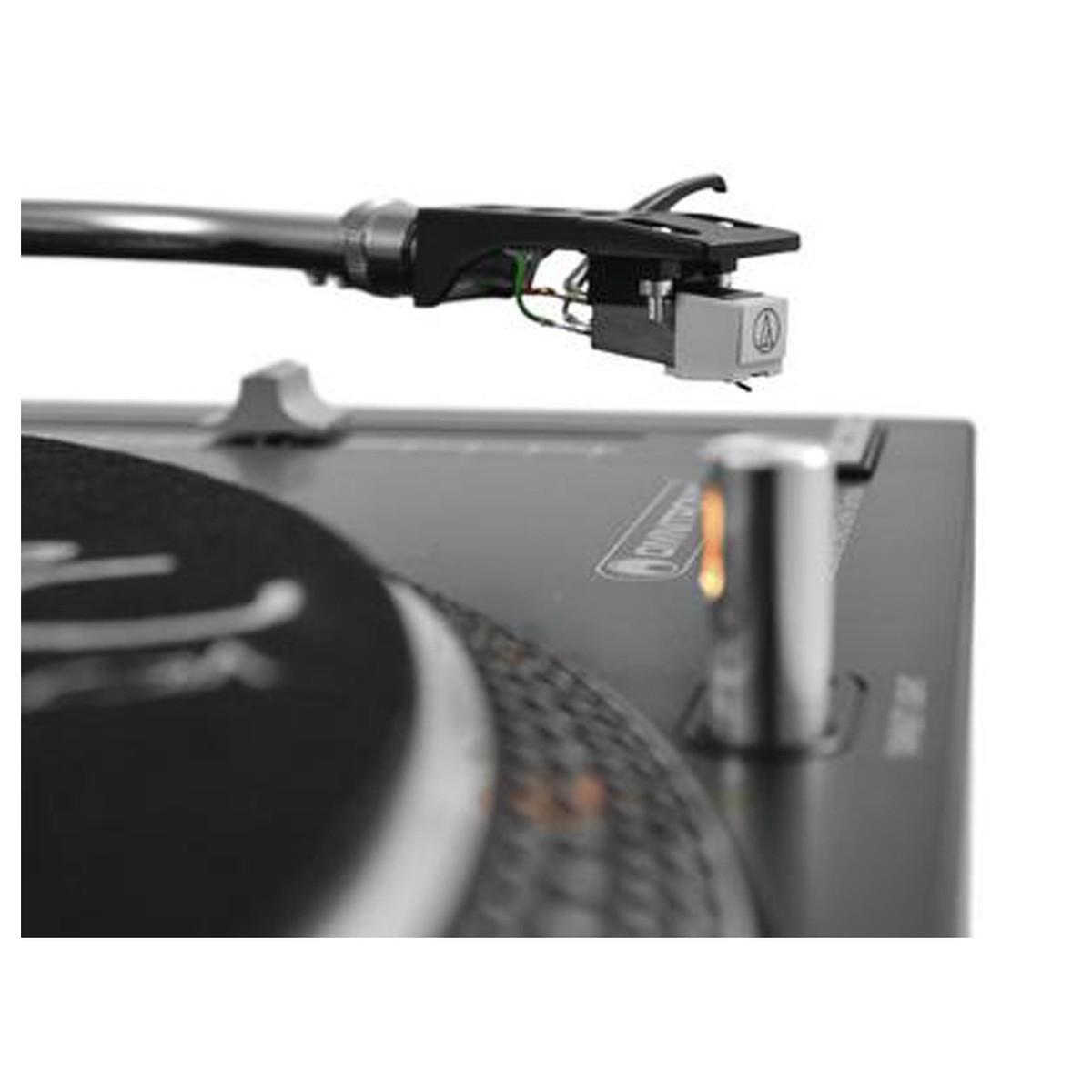 OMNITRONIC DD-2520 USB BLACK GIRADISCHI PER DJ TRAZIONE DIRETTA NERO 8