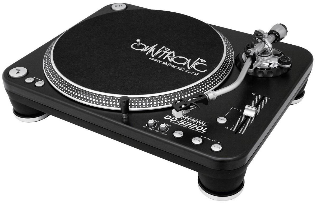 OMNITRONIC DD5220L GIRADISCHI PER DJ TRAZIONE DIRETTA ULTRA TORQUE PHONO LINE 1