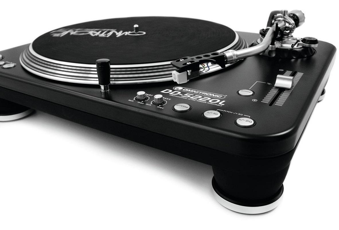 OMNITRONIC DD5220L GIRADISCHI PER DJ TRAZIONE DIRETTA ULTRA TORQUE PHONO LINE 3