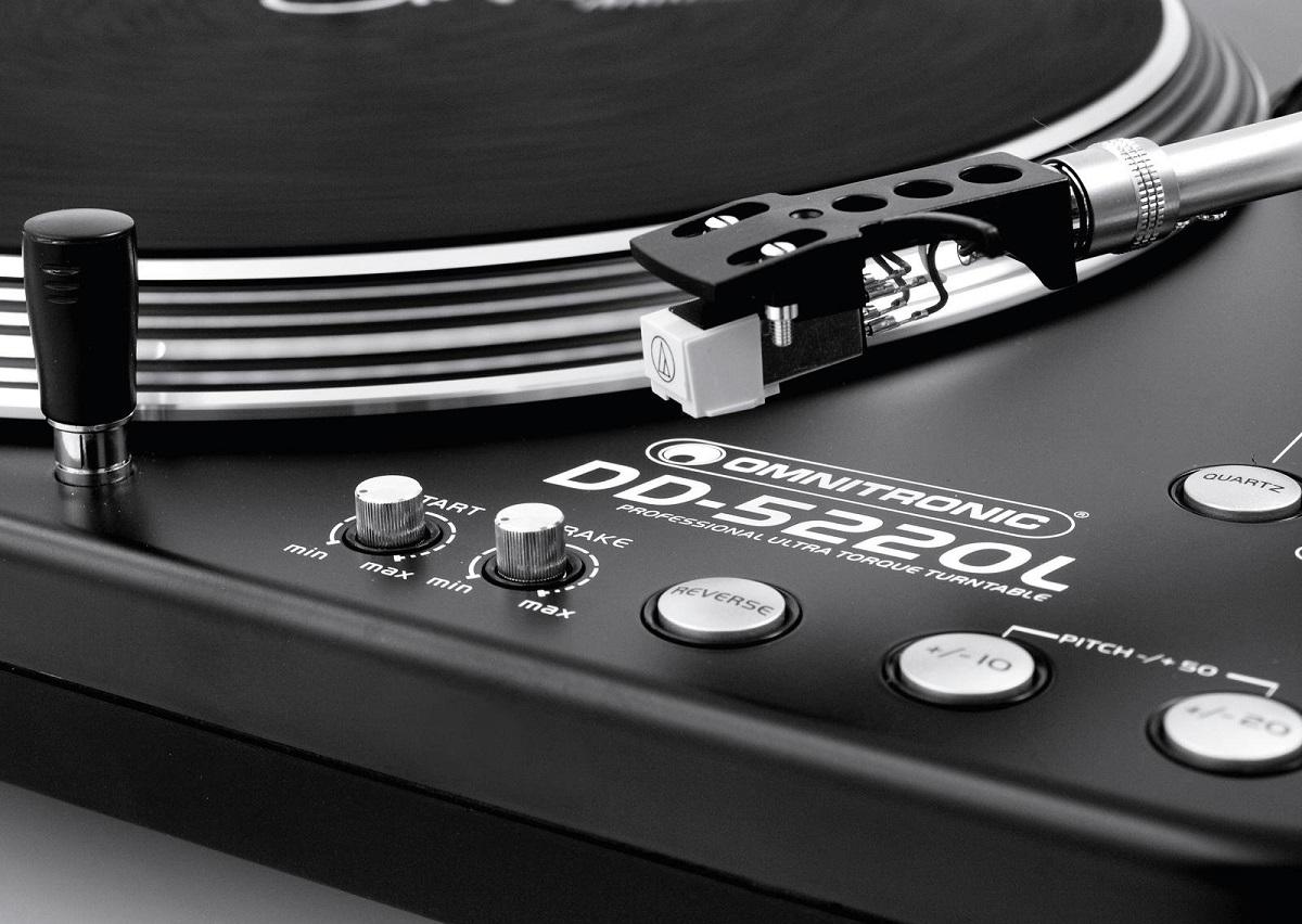 OMNITRONIC DD5220L GIRADISCHI PER DJ TRAZIONE DIRETTA ULTRA TORQUE PHONO LINE 5