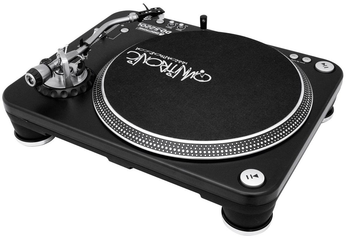 OMNITRONIC DD5220L GIRADISCHI PER DJ TRAZIONE DIRETTA ULTRA TORQUE PHONO LINE 6