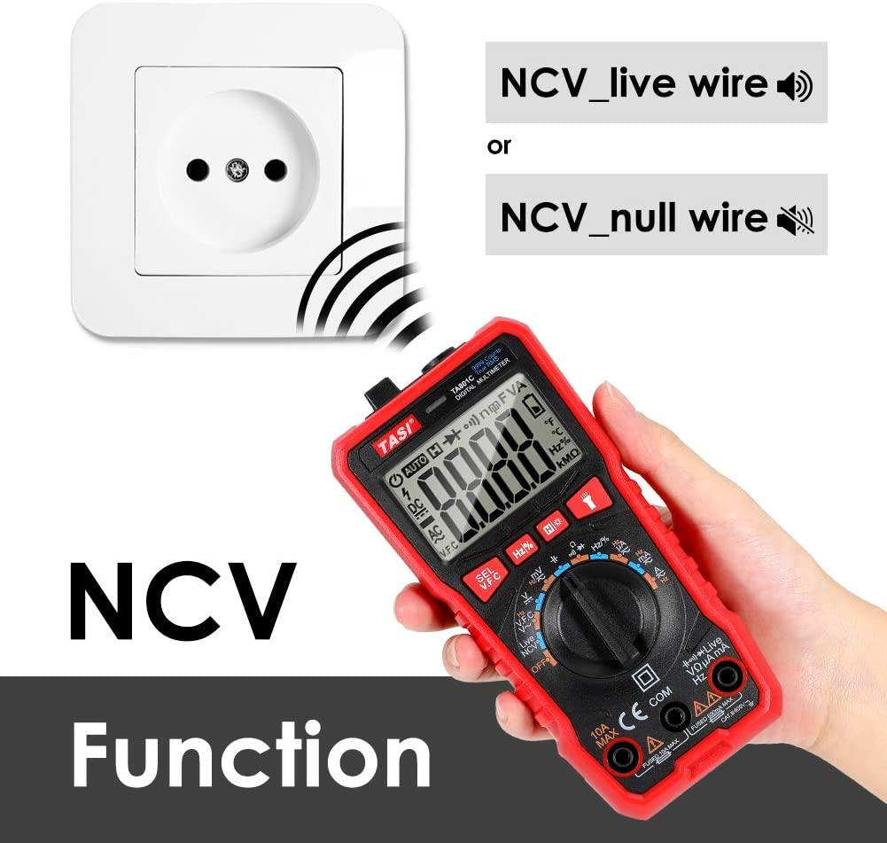 TASI TA801C MULTIMETRO DIGITALE AUTOMATICO LCD TESTER NCV TENSIONE CORRENTE ELETTRICA ACDC 2
