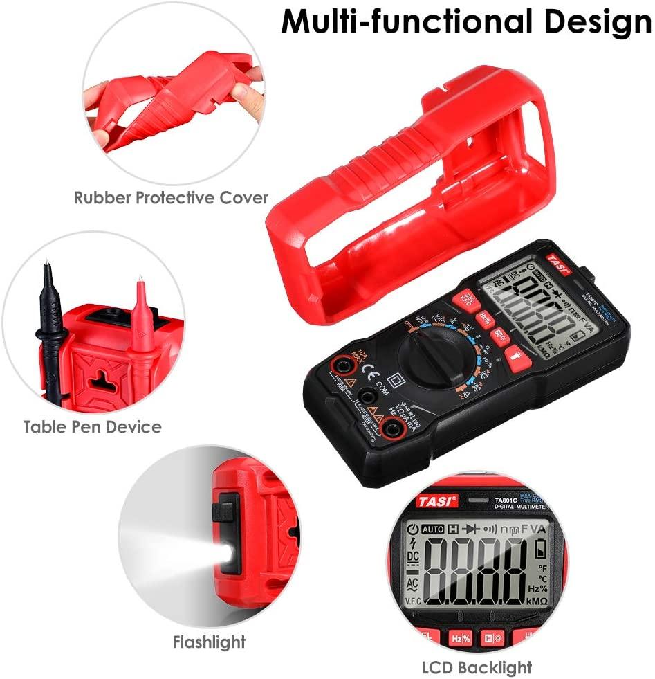TASI TA801C MULTIMETRO DIGITALE AUTOMATICO LCD TESTER NCV TENSIONE CORRENTE ELETTRICA ACDC 4