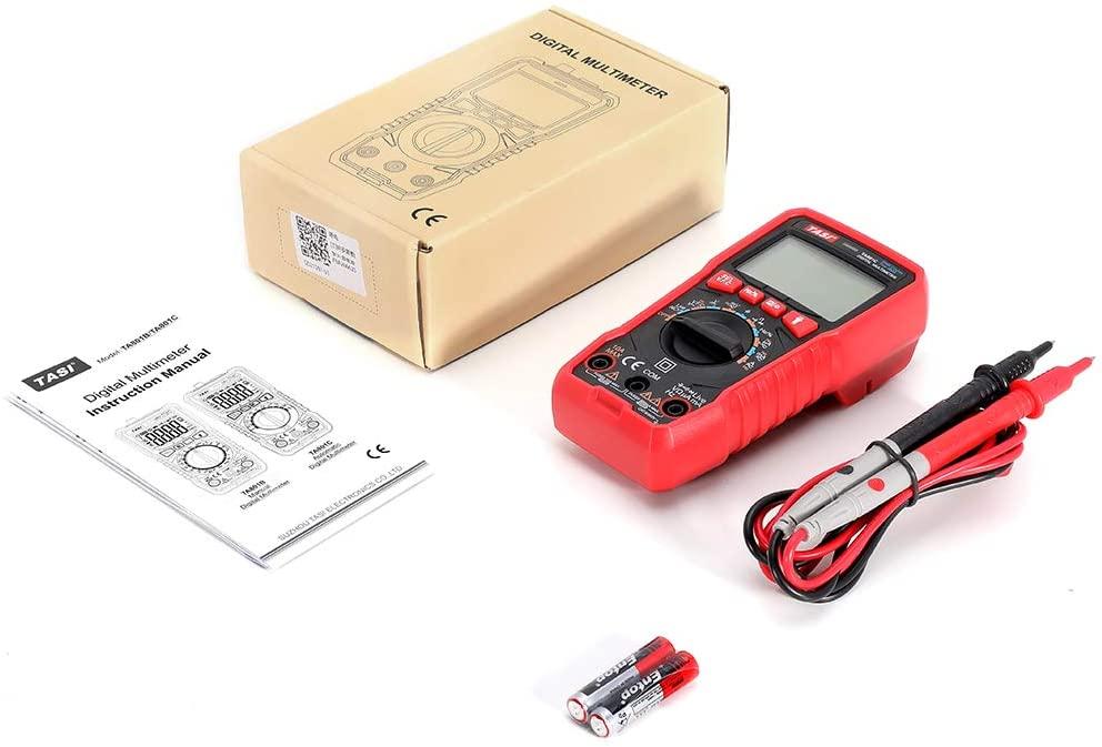 TASI TA801C MULTIMETRO DIGITALE AUTOMATICO LCD TESTER NCV TENSIONE CORRENTE ELETTRICA ACDC 7