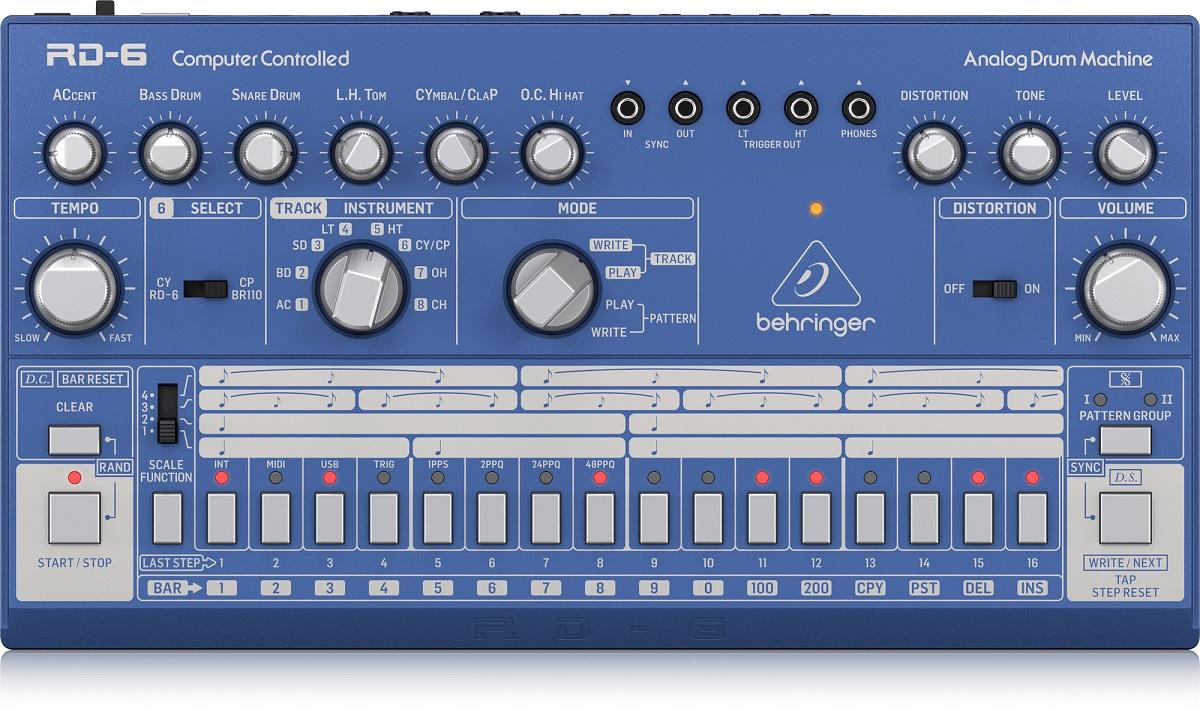 BEHRINGER RD-6 BU RHYTHM DESIGNER BLUE DRUM MACHINE BLU