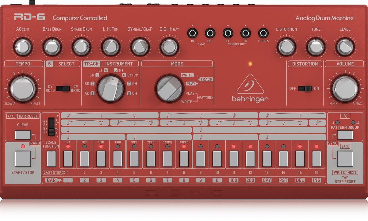 BEHRINGER RD-6 RD RHYTHM DESIGNER RED DRUM MACHINE ROSSA