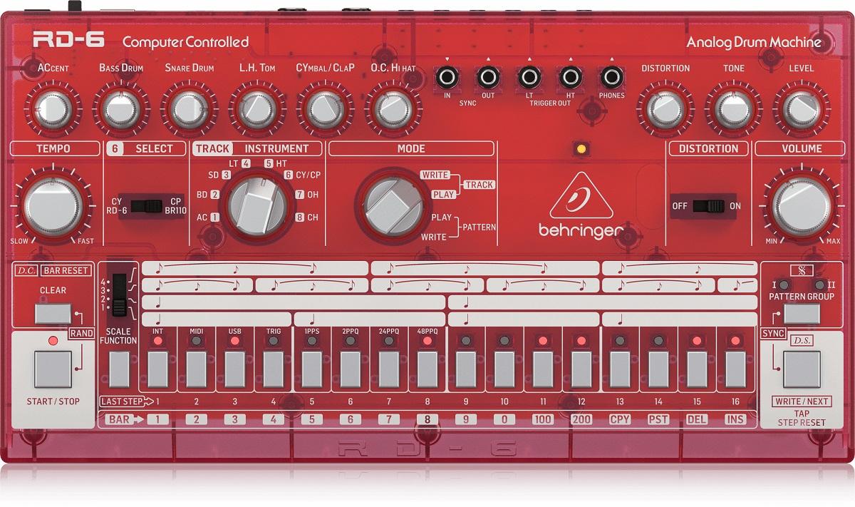 BEHRINGER RD-6 SB RHYTHM DESIGNER RED DRUM MACHINE ROSSA