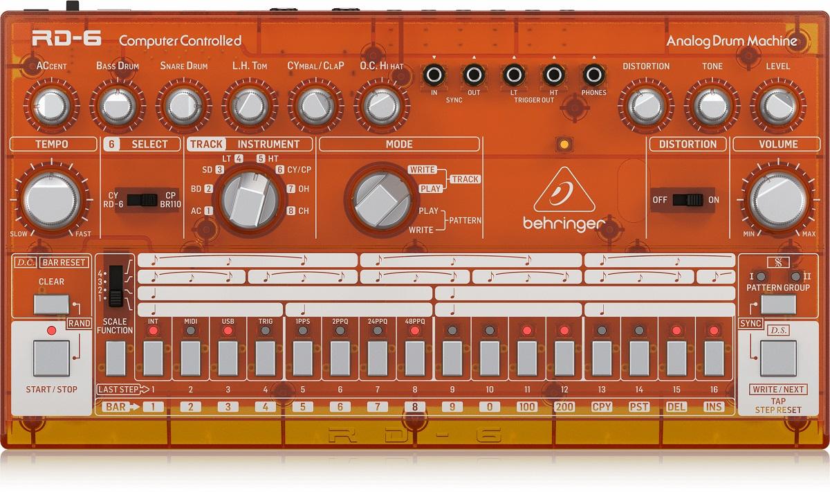 BEHRINGER RD-6 TG RHYTHM DESIGNER ORANGE DRUM MACHINE ARANCIONE