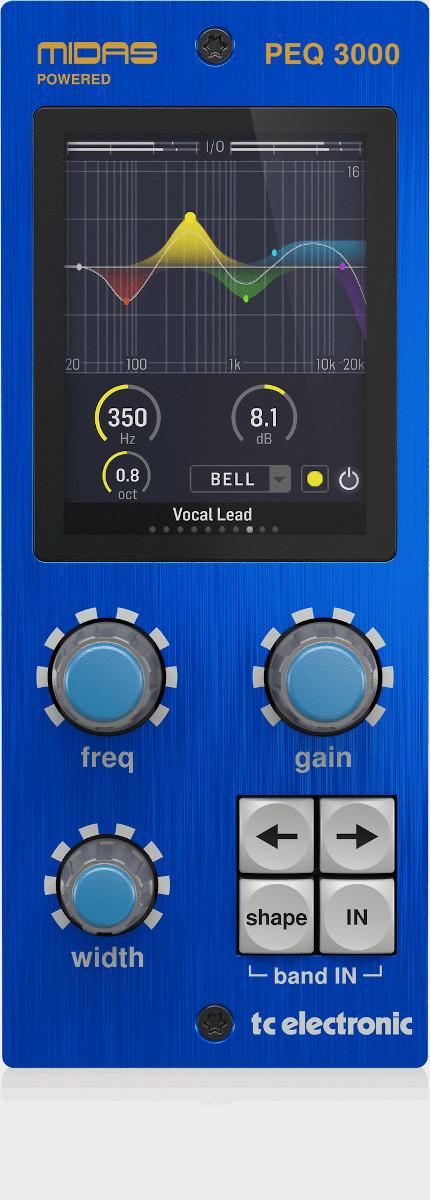 TC ELECTRONIC PEQ 3000 NATIVE PEQ 3000-DT CONTROLLER MIDAS HERITAGE 3000 EQ 2