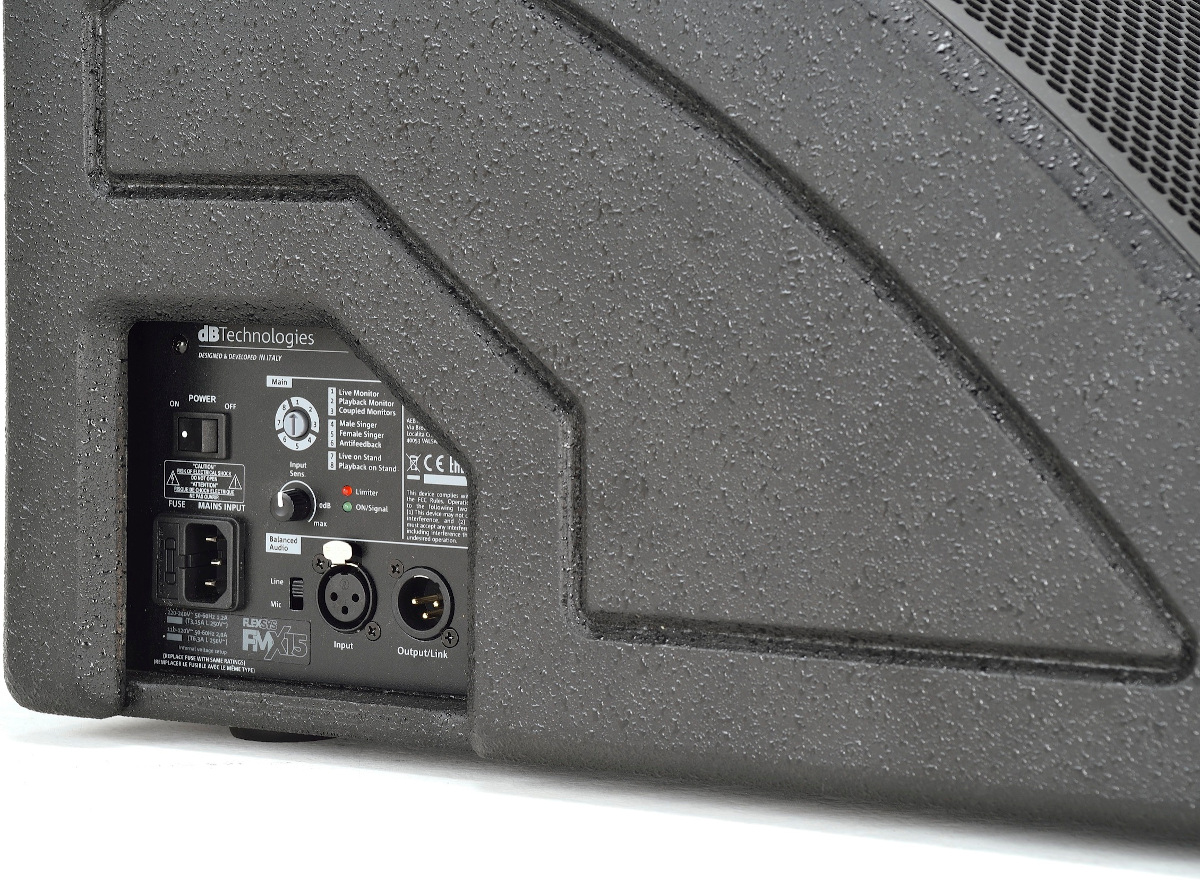 DB TECHNOLOGIES FLEXSYS FMX15 CASSA ATTIVA 1200W SPIA MONITOR DA PALCO 2