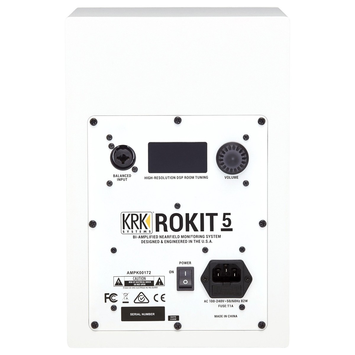 KRK RP5-G4W ROKIT MONITOR DA STUDIO 55 WATT BIAMPLIFICATO WOOFER 5 BIANCO + DSP ROOM TUNING TRAMITE APP 1