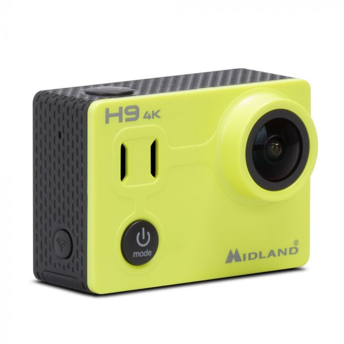 MIDLAND H9 ACTION CAMERA UHD 4K 30 FPS WATERPROOF 30MT BATTERIA LI-ION 1050MAH ACCESSORI