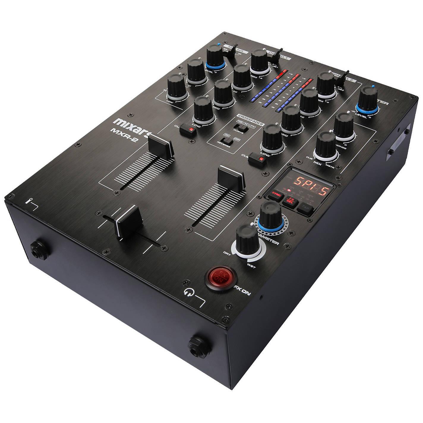 MIXARS MXR2 MIXER DJ 2 CANALI CON EFFETTI E SCHEDA AUDIO 4 IN4 OUT 2