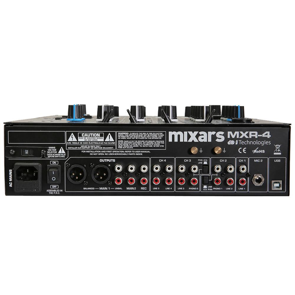 MIXARS MXR4 MIXER DJ 4 CANALI CON EFFETTI CONTROLLO GAIN + EQ 3-BANDE 1