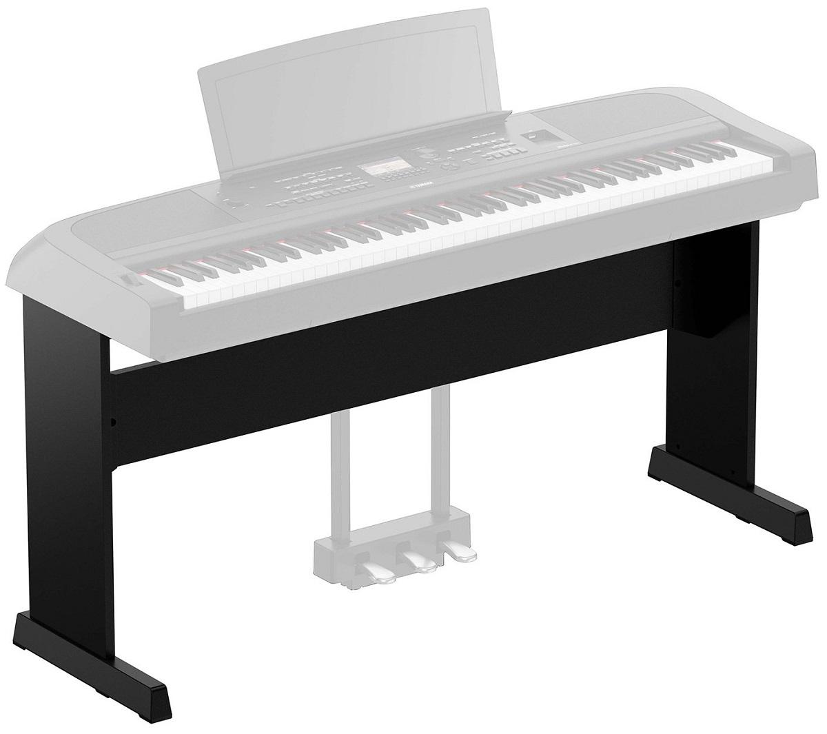 YAMAHA L300B SUPPORTO MOBILE LEGNO STAND GAMBE PIANOFORTE DGX670B NERO