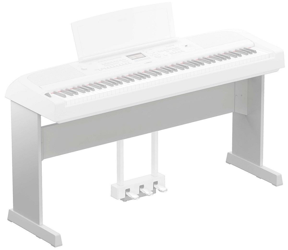 YAMAHA L300WH SUPPORTO MOBILE LEGNO STAND GAMBE PIANOFORTE DGX670WH BIANCO
