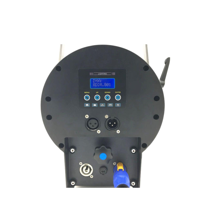 ATOMIC4DJ 61054 SCALA 100 FARO TEATRALE FRESNEL SPOTLIGHT 100 WATT LED WW 3200K – 5000K + BARNDORS 3
