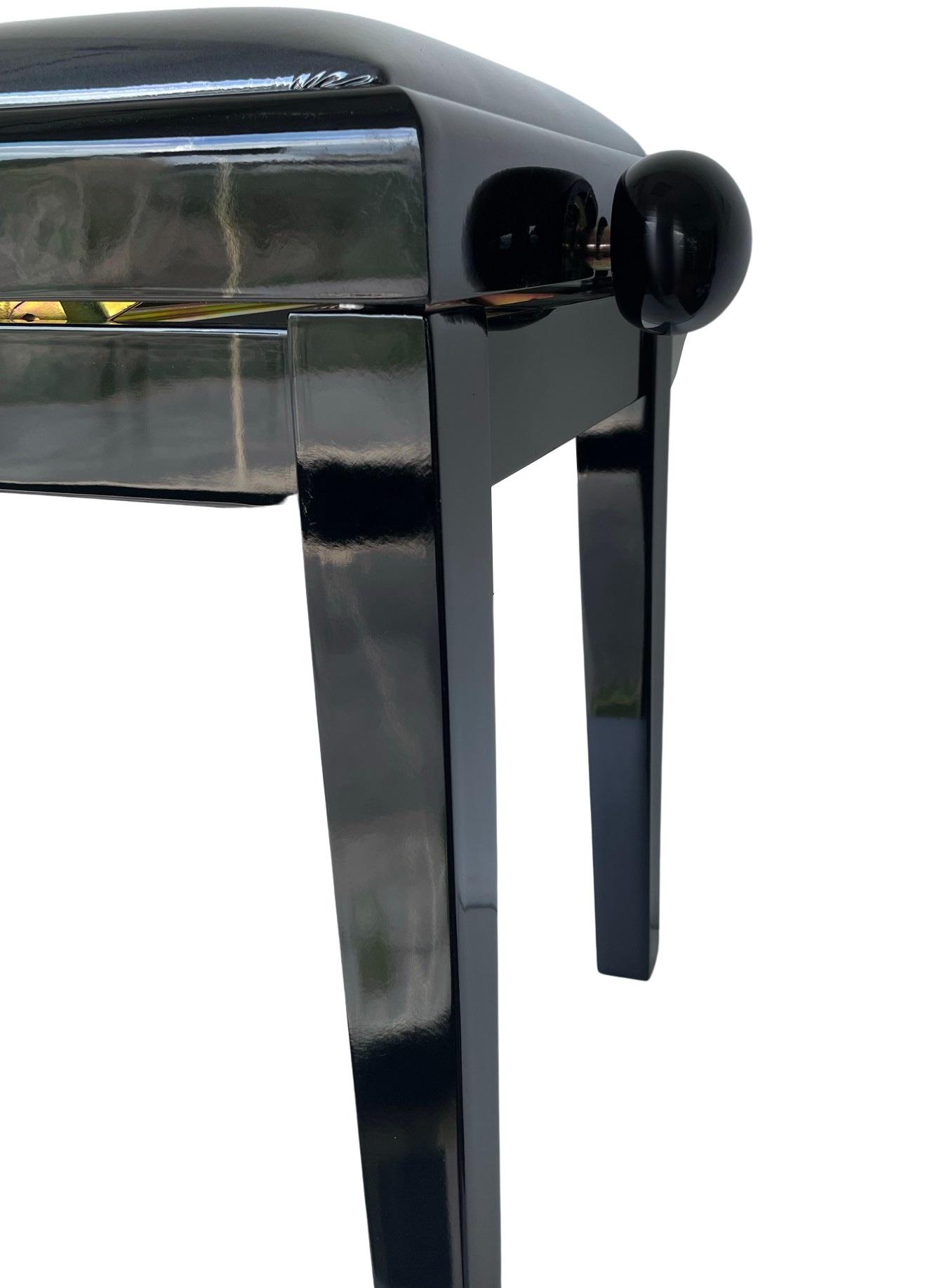 EXTREME PB100BK BLACK PIANO BENCH PANCHETTA PER PIANOFORTE IN LEGNO FINITURA NERA LUCIDA 2
