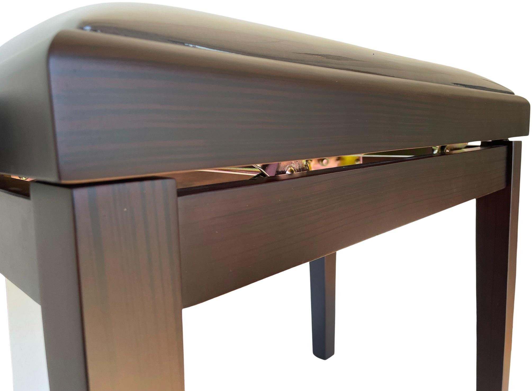 EXTREME PB100RW ROSEWOOD PIANO BENCH PANCHETTA PER PIANOFORTE IN LEGNO FINITURA PALISSANDRO 4