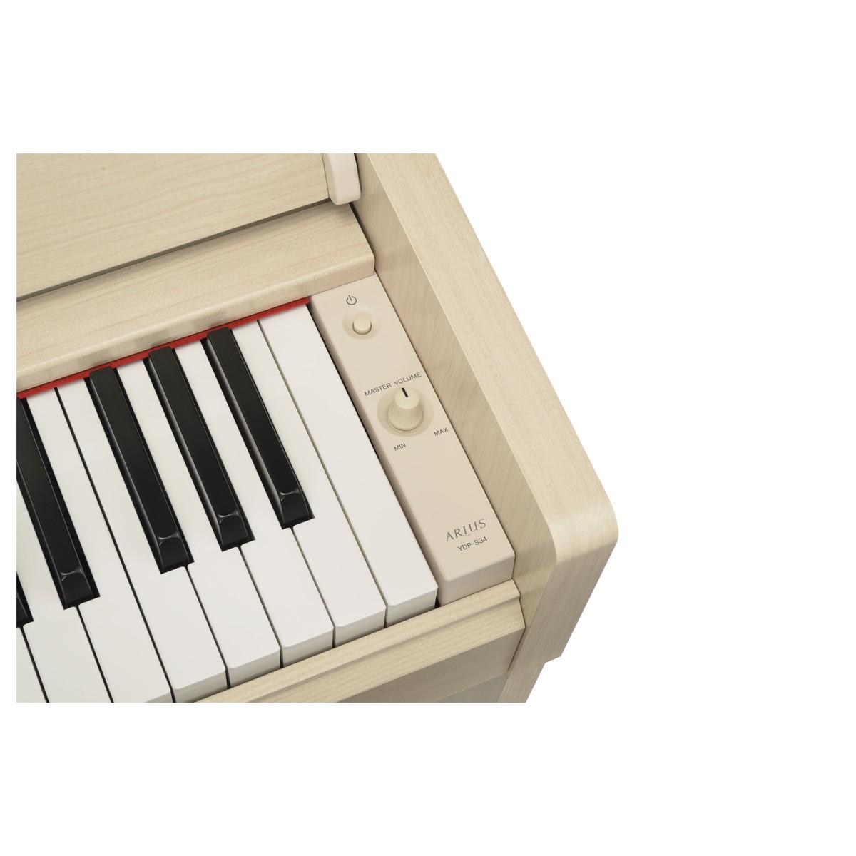 YAMAHA ARIUS YDP-S34 WA PIANOFORTE DIGITALE 88 TASTI PESATI COLORE BIANCO CENERE 4