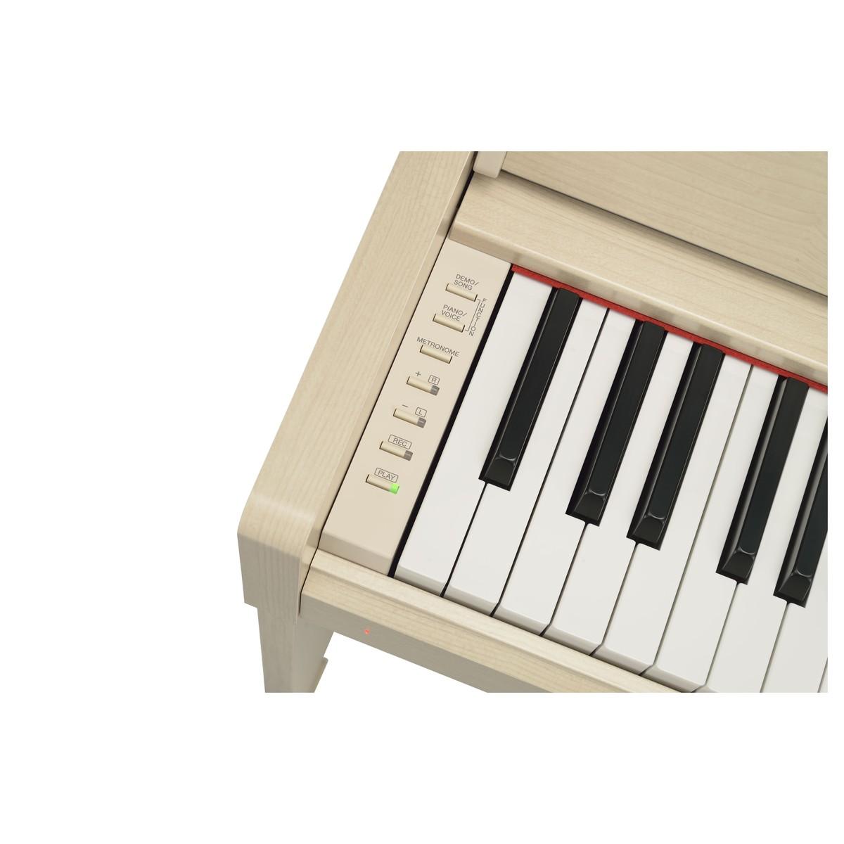 YAMAHA ARIUS YDP-S34 WA PIANOFORTE DIGITALE 88 TASTI PESATI COLORE BIANCO CENERE 5