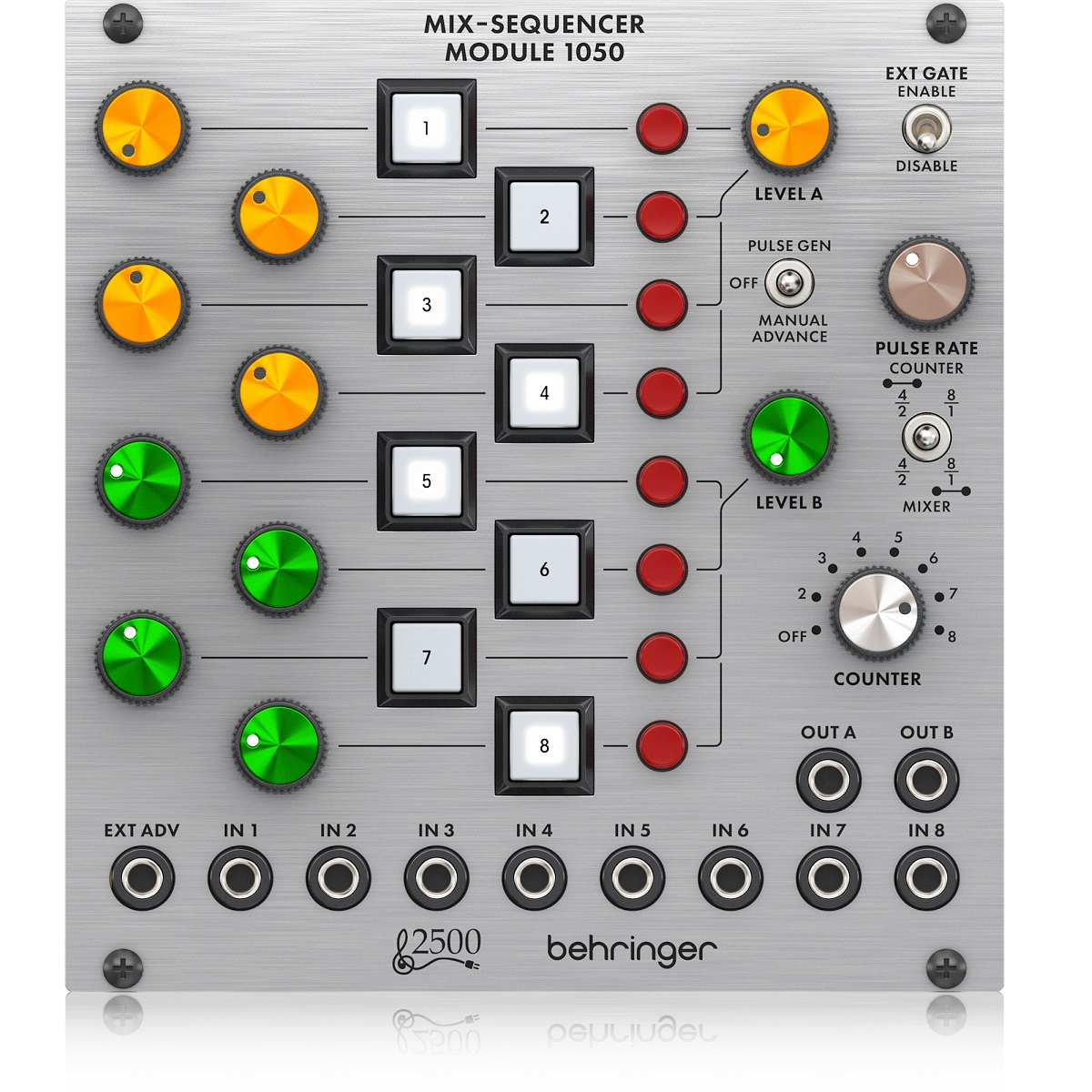 BEHRINGER 1050 MIX-SEQUENCER MODULE 8 CANALI MODULO SERIE 2500 1
