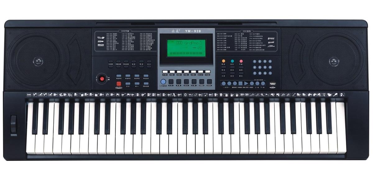 YONGMEI YM928 TASTIERA DINAMICA 61 TASTI 300 SUONI E RITMI MIDI USB 30 DEMO INSEGNAMENTO 2