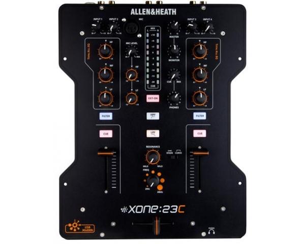 ALLEN &HEATH XONE 23C MIXER 2 IN 2 OUT CON SCHEDA AUDIO USB INTEGRATA