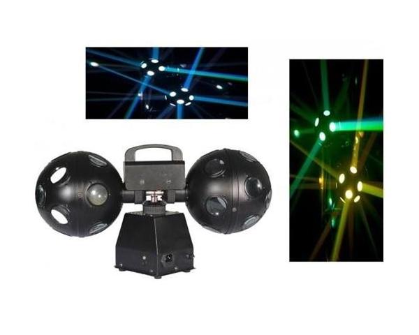 GHOST TWIN BALL LED 4 LEDS 3W DP SFERA