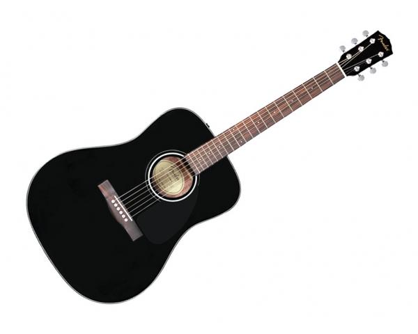 Fender cd60s blk chitarra acustica nera top massello for Ganci per appendere chitarre