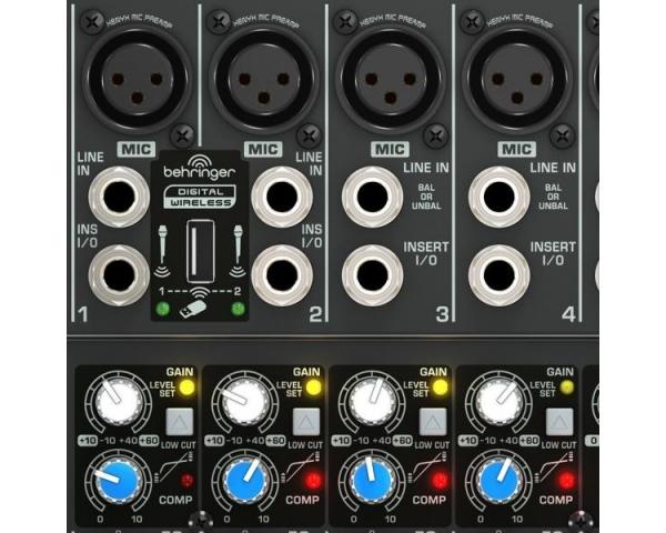 Behringer xenyx qx usb mixer ingressi compressori bus