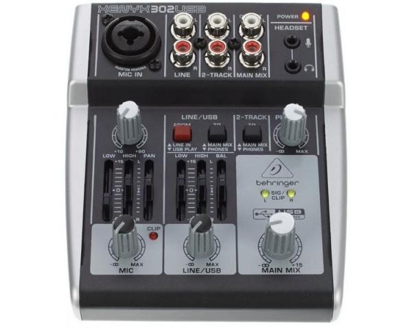 behringer xenyx 302usb mixer passivo 5 ingressi interfaccia audio usb software tracktion. Black Bedroom Furniture Sets. Home Design Ideas