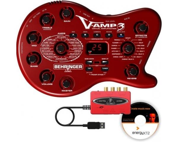 SOFT INTERFACCIA AUDIO USB BEHRINGER VAMP3 MULTIEFFETTO POD FAGIOLO CHITARRA