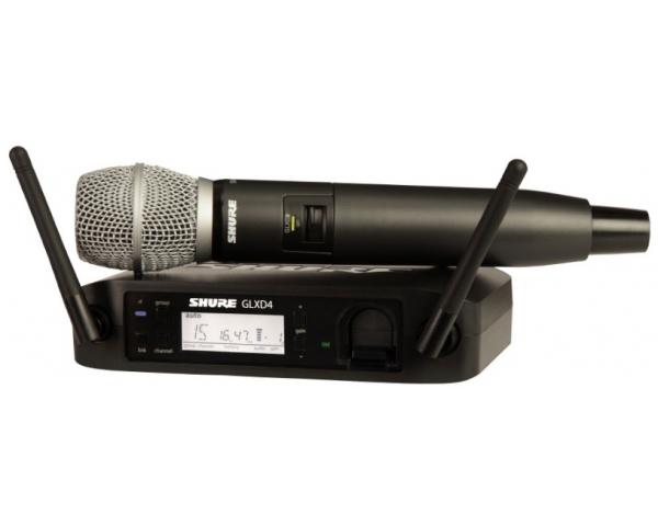 SHURE GLXD24E/SM86 RADIOMICROFONO PALMARE DIGITALE WIRELESS SISTEMA RADIO SERIE GLXD CON CAPSULA SM-86