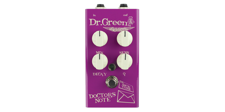 ASHDOWN DR.GREEN HAYDEN DOCTOR'S NOTE PEDALE ENVELOPE FILTER PER BASSO MADE IN UK SOTTOCOSTO